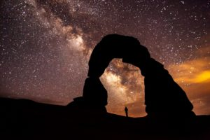 Delicate Arch and Universe, Arches National Park (NPS photo)