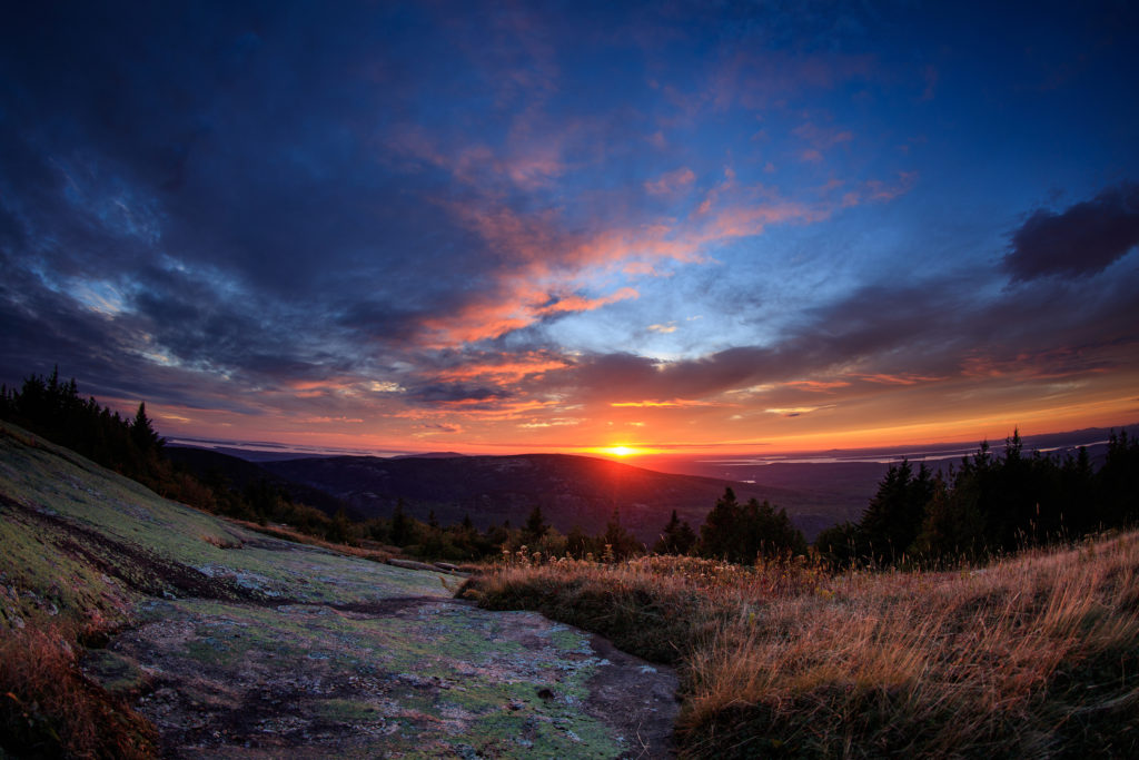 Sunrise at Acadia National Park's Cadillac Mountain (NPS/Kristi Rugg)
