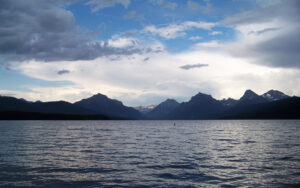 McDonald Lake after rain, Glacier National Park